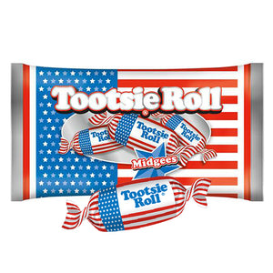 Tootsie Roll USA Flag Midgees - 11-oz. Bag