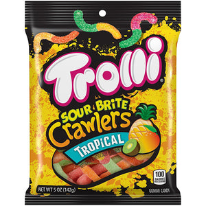 Trolli Sour Brite Crawlers Tropical Gummi Candy - 5-oz. Bag