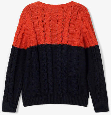 Name it - NmmOvenne LS Knit - Burnt Brick Strikbluser