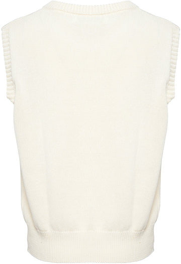 Noella - Alie Knit West, Cotton - Off White Veste