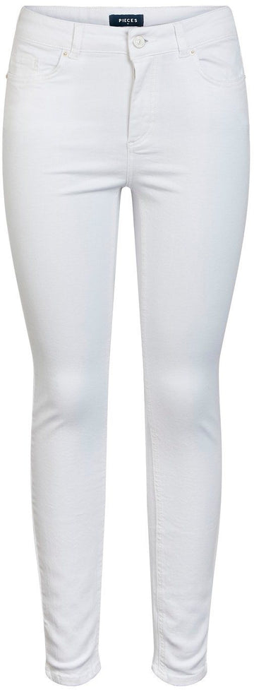 PIECES - Delley SKN MW - Bright White Jeans