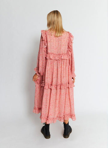 Stella Nova - Barbara Dress - Pink/Orange Kjoler