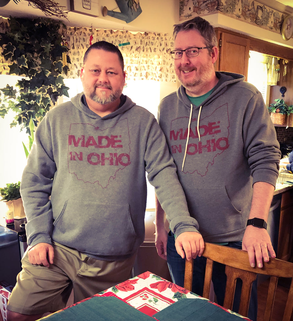 Made in Ohio Adult Gray Hoodie sweatshirt - Sugar Pie Tees T-Shirt
