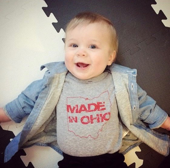 Made in Ohio Gray Infant Creeper - Sugar Pie Tees T-Shirt