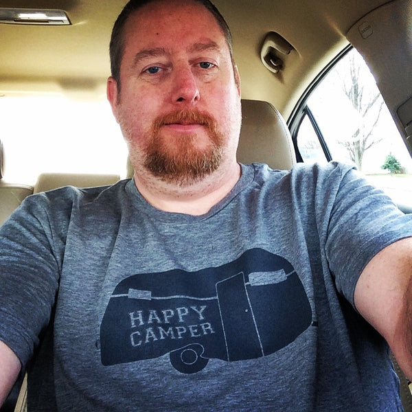 Happy Camper Gray Crew Tee - Sugar Pie Tees T-Shirt