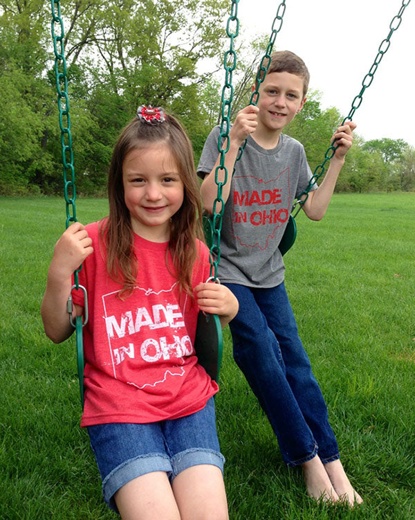 Made in Ohio Youth Red T-Shirt - Sugar Pie Tees T-Shirt