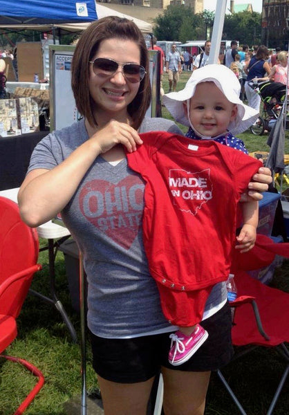 Made In Ohio Red Infant Creeper - Sugar Pie Tees T-Shirt