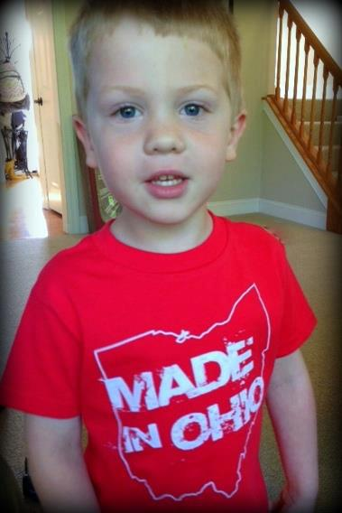 Made in Ohio Red Toddler T-Shirt - Sugar Pie Tees T-Shirt