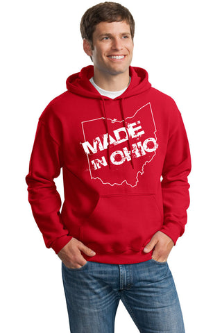 Made In Ohio Adult Red Hoodie Sweatshirt - Sugar Pie Tees T-Shirt