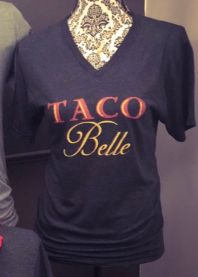 Taco Belle V-Neck T-Shirt - Sugar Pie Tees T-Shirt
