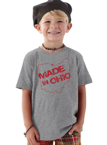 Made in Ohio Gray Toddler T-Shirt - Sugar Pie Tees T-Shirt