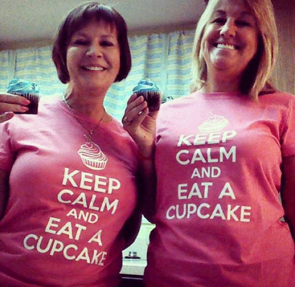 Keep Calm And Eat A Cupcake Crewneck T-shirt - Sugar Pie Tees T-Shirt