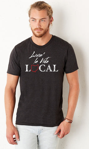 Livin La Vida Local Charcoal Crew - Sugar Pie Tees T-Shirt