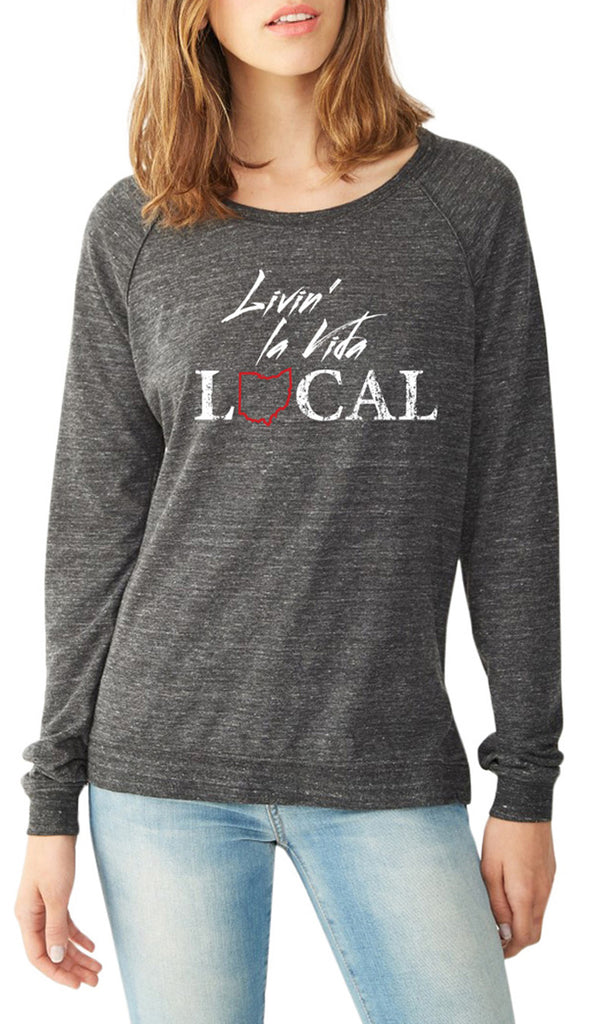 Livin La Vida Local Eco Black Pullover - Sugar Pie Tees T-Shirt