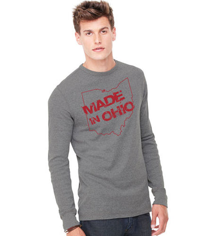 Made In Ohio Gray Thermal - Sugar Pie Tees T-Shirt