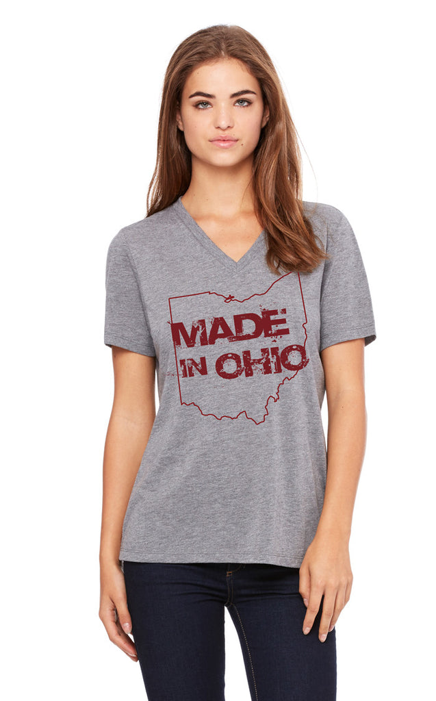 Made In Ohio Gray V-Neck T-Shirt - Sugar Pie Tees T-Shirt