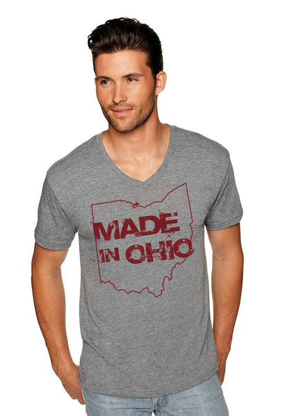 Made In Ohio Gray V-Neck