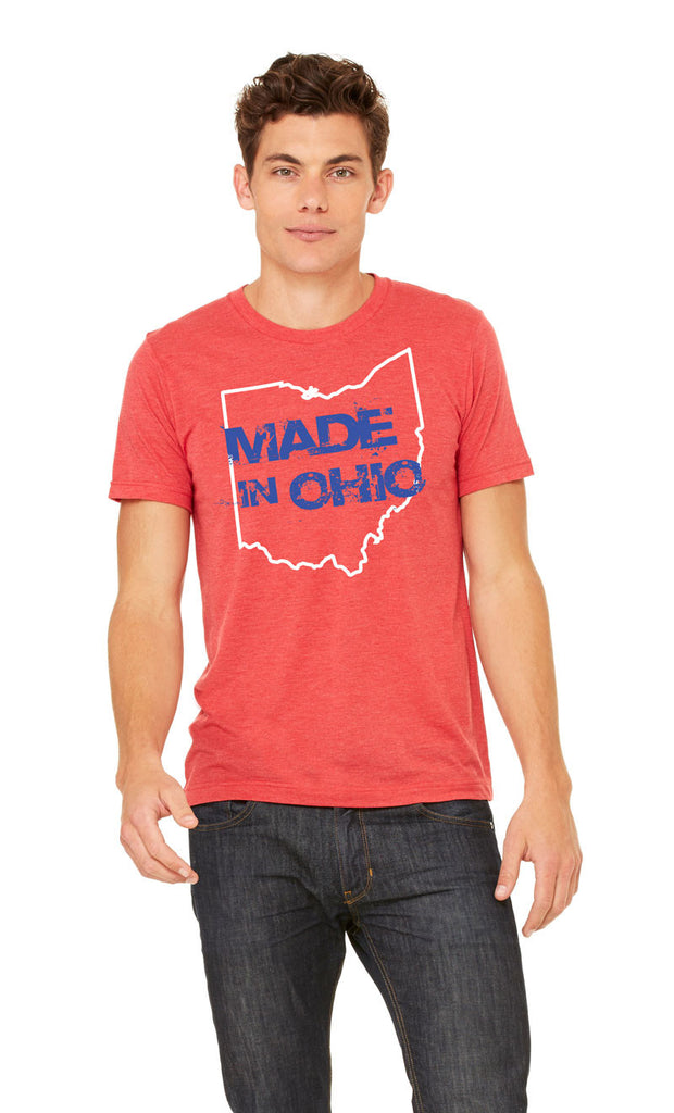 Made In Ohio Red White and Blue Crew T-Shirt