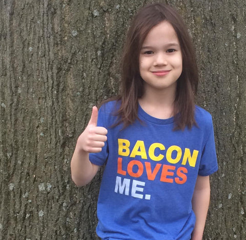 Bacon Loves ME Youth Crew T-Shirt - Sugar Pie Tees T-Shirt