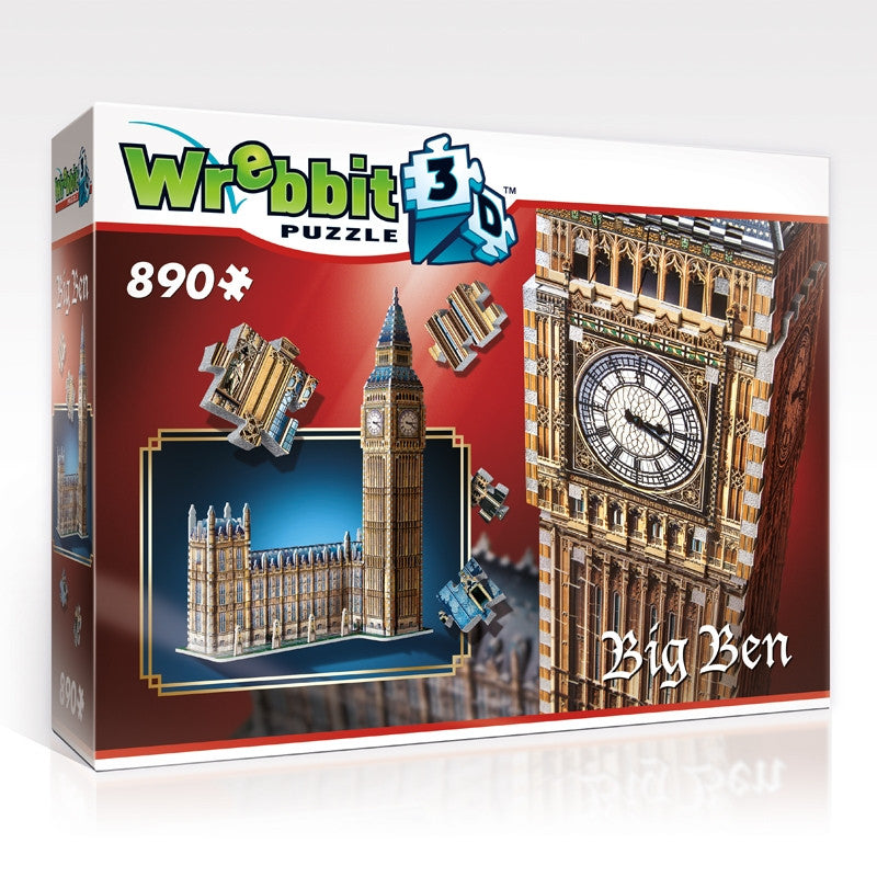 Wrebbit 3D Puzzle Big Ben - 890 Pieces