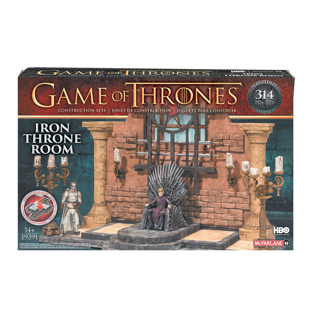 McFarlane Toys Game of Thrones Iron Throne Room Construction Set front