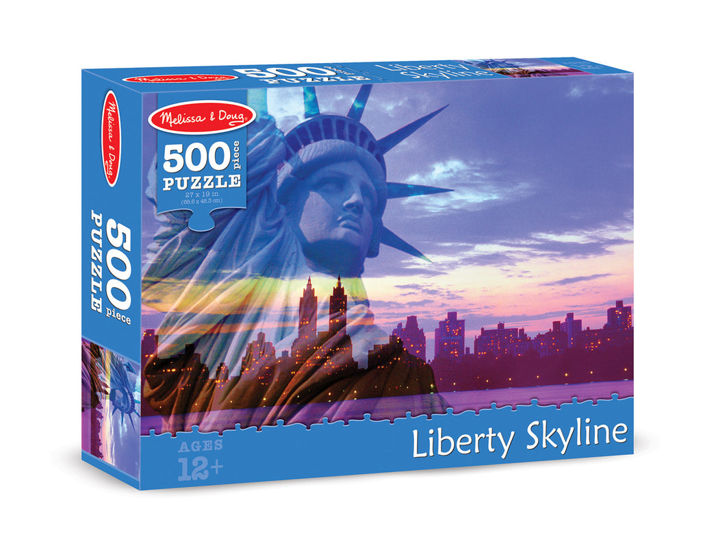 Melissa & Doug Liberty Skyline Cardboard Jigsaw - 500 Pieces
