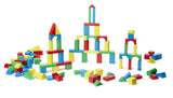 Melissa & Doug 100 Wood Blocks Set assembled 1