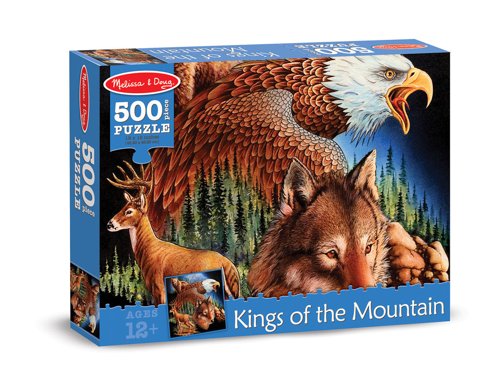 Melissa & Doug King of the Mountain Cardboard Jigsaw - 500 Pieces