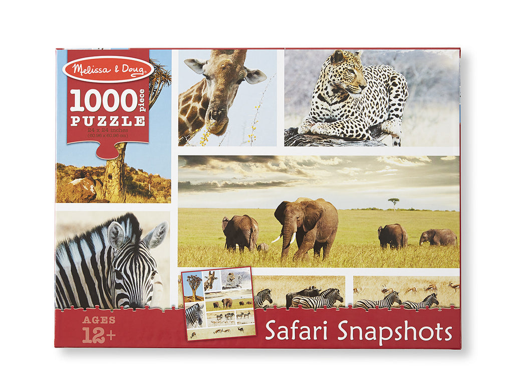 Melissa & Doug Safari Shapshots Cardboard Jigsaw - 1000 Pieces