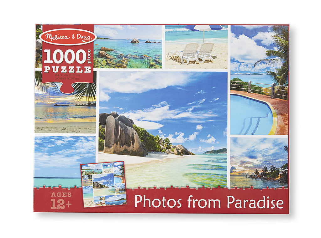 Melissa & Doug Photos from Paradise Cardboard Jigsaw - 1000 Pieces