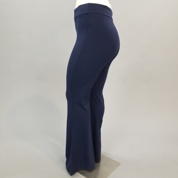 BT-X {In Your Space} Navy Fold Over High Waist Yoga Pants PLUS SIZE