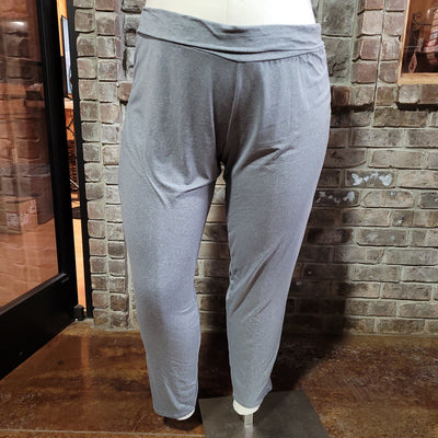 11-10 BT-C {Game Over} Grey Yoga Pants EXTENDED PLUS SIZE 4X 5X 6X