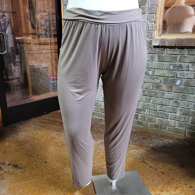 27 BT-D {Game Over} Mocha Yoga Pants EXTENDED PLUS SIZE 4X 5X 6X