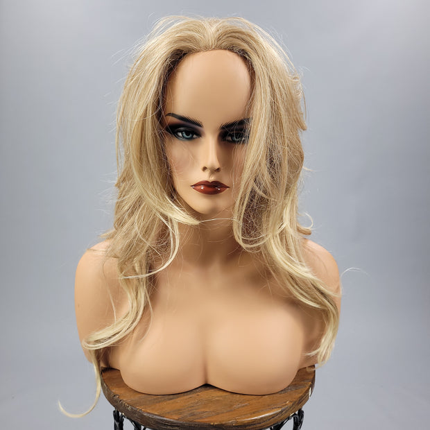 {LeAnn} Blonde Blend Long Curly Wig