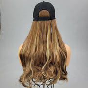 {Serenity} Brown Blonde Blend Baseball Hat Wig