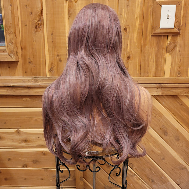 {Mercy} Lavender Long Straight Wig