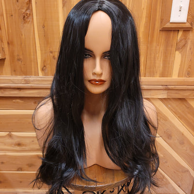 {Cher} Raven Black Long Wave Wig