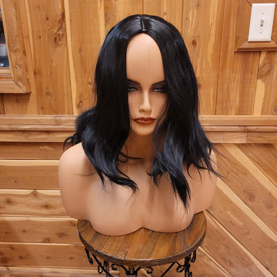 {Constance} Black Medium Length Full Body Wig