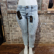 BT-D {PINK LABEL} Denim Distressed Jeans With Holes