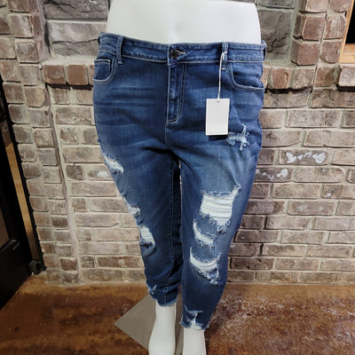 BT-M {CELLO} Denim Distressed Jeans With Holes