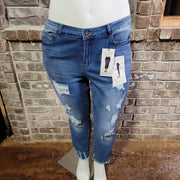 BT-P {Thread & Other} Denim Distressed Jeans With Holes