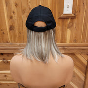 {Allison} Honey & Bleach Blonde Blend Baseball Cap Wig