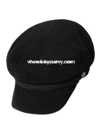 #18-C David & Young Ladies Black Cap/hat Hats