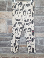 Leg-30 {Girl's Best Friend} Cat Print Capri Leggings EXTENDED PLUS SIZE 3X/5X