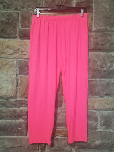 Leg-5 {Neon Dream} Neon Pink Capri Leggings EXTENDED PLUS SIZE 3X/5X