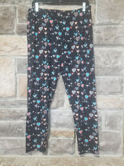 Leg-5 {Love You More} Multi Heart Print Capri Leggings EXTENDED PLUS SIZE 3X/5X