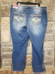 BT-C {Denim Studs} Medium Wash Denim Jeans Stud Details PLUS SIZE 16, 18, 20, 22, 24