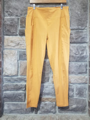 LEG-03 {Autumn Spice} Mustard Wide Waistband Full length Leggings PLUS SIZE 1X 2X 3X
