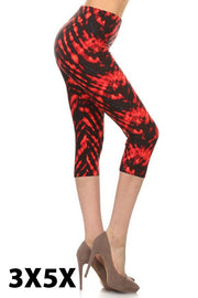 PLS/6 {Fire To The Rain} Tie-Dye Capri Leggings (SOFT)
