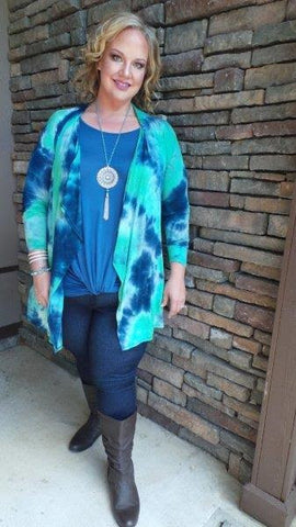 VELZERA Pink/Blue Multi-Color Fringed Top SALE!